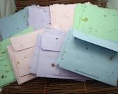 Handmade Paper Stationary and Envelope Set of 5