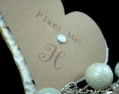 Personalized White Seed Paper Heart Wedding Favors - 50 - 3 inch