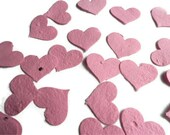 Pink Seed Paper Heart Confetti - 100 count - 1 1/2 inch