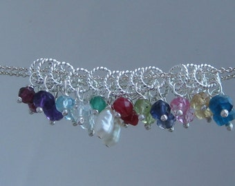 ADD ON- Dangle Charm- GEMSTONE 3.5-4.5mm Faceted beads in birthstone colors, plus, a few extra color choices that are cute