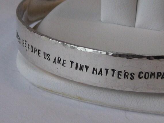 Sterling Silver Handstamped Cuff Bracelet
