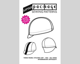 DIY KIT Sewing Pattern: Three-panel Cycling Cap