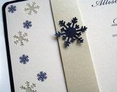 Snowflake Wedding Invitation Ensemble for Winter Wonderland Weddings - DESIGN FEE