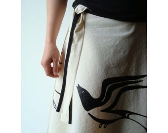 Swallow Spin Wrap Skirt .