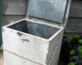 TREASURY ITEM x 3 - Twin Pines Dairy Galvanized Milk Cooler Box - Rescued Vintage Farmhouse Kitchen
