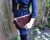 Georgia Reclaimed leather  fold over clutch