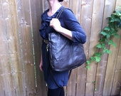 Med Tote in coffee reclaimed leather