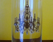 SALE Crystal encrusted Chandelier Vase, candle holder or centerpiece Ready To Ship