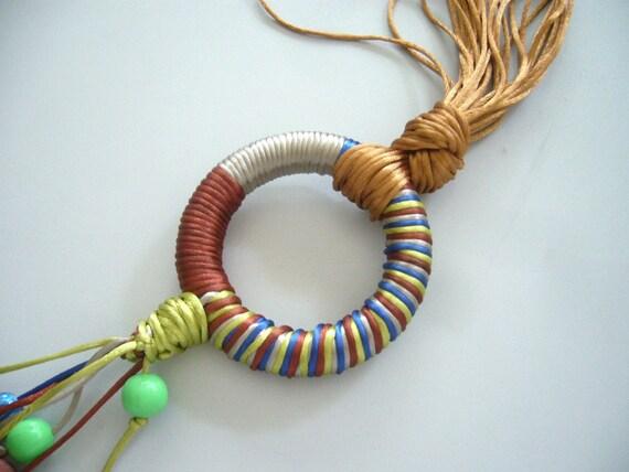 Satin statement necklace