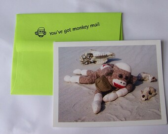 quirky humorous encouragement card by Monkey Moments A8