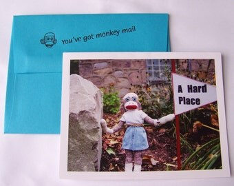 whimsical encouragement card by Monkey Moments A21