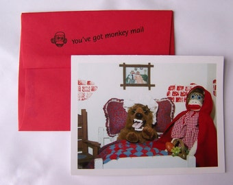 funny blank greeting card by Monkey Moments A22