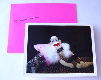 hilarious anniversary sock monkey card by Monkey Moments S1