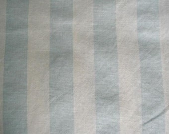 Cabana Oyster white blue - Rachel Ashwell Shabby Chic fabric - cottage blue and white stripes - Retired Home Collection linen