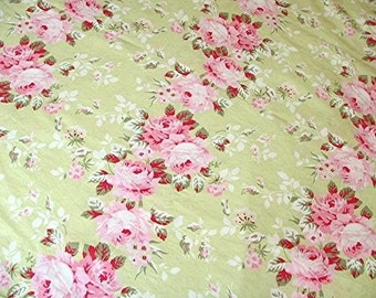 Rachel Ashwell Shabby Chic Pink Rose Trellis - Boutique Home Collection cotton poplin fabric