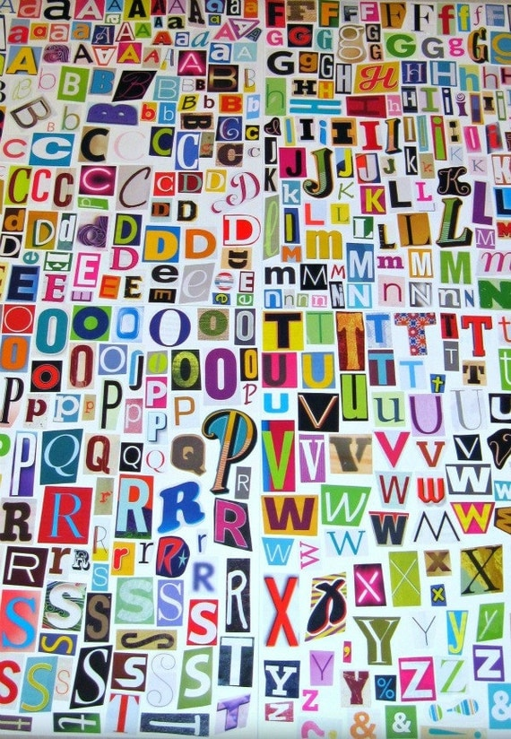 ... Alphabet, A to Z, Magazine Letters, Collage Letters, Ransom Note