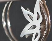 Floral Hoops in Sterling Silver