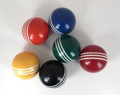 Set of 6 Vintage Croquet Balls