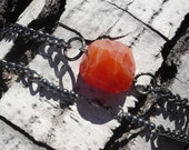 Chain and Carnelian Necklace