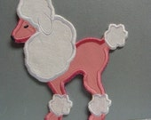 Poodle Patch BIG Six Inch Applique Embroidered DIY -100038