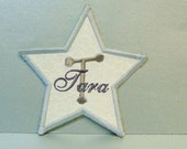 Star Patch with Name Embroidered Applique-100145