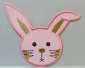 Easter Bunny Patch BIG Embroidered Applique -100188