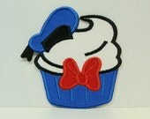 Donald Duck Cupcake Embroidered Applique 100234