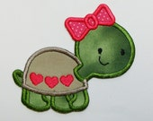 Love Turtle Embroidered Applique -100208