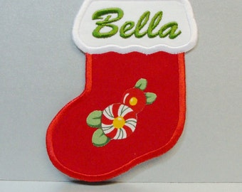 Personalized Christmas Stocking Embroidered -100116