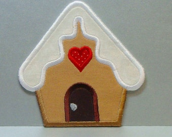 Gingerbread House-Patch Embroidered Applique 100172