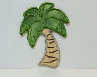 Palm Tree Patch Embroidered Applique-100002