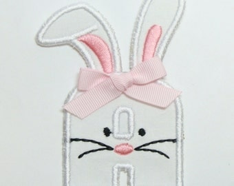 Bunny Alphabet Embroidered Sew on Applique Patch-100346