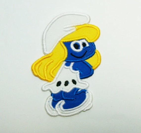 Smurfette Embroidered DIY Clothing Applique Patch-100323