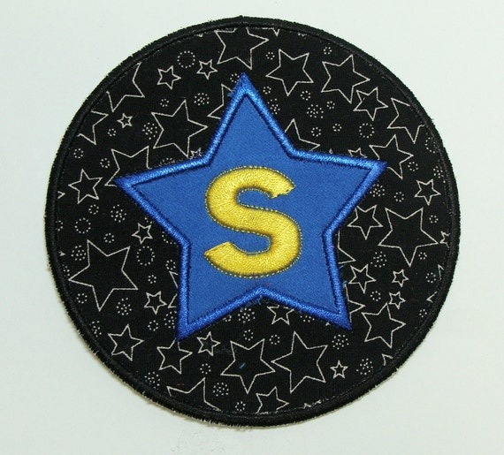 Circle Star  Embroidered DIY Clothing Applique Patch -100191
