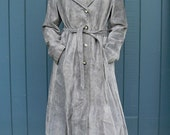 Cloudy Gray Suede Trench Coat sz. XL 16 PLUS