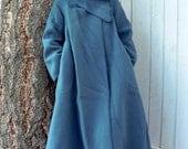Periwinkle Blue Felted Opera Coat sz. MEDIUM - LARGE