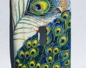 Peacock inspired Light Switch Cover