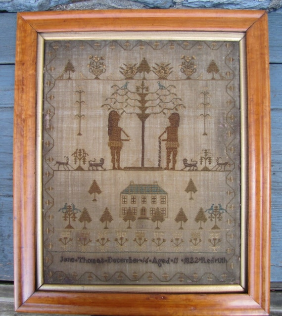 RESERVED FOR M....1822 Adam and Eve Sampler