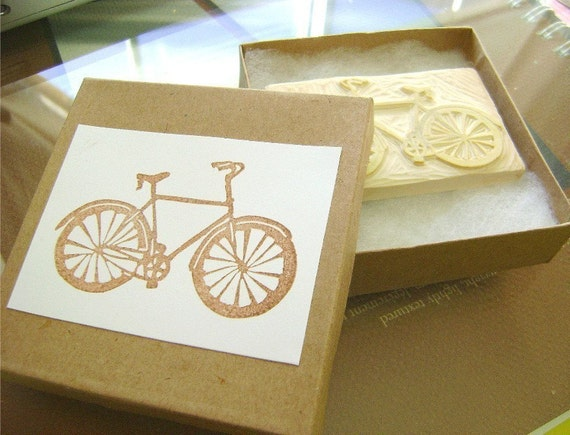 CUSTOM Hand-Carved Stamp for you (medium). One-of-a-kind art for Paper Crafting and more