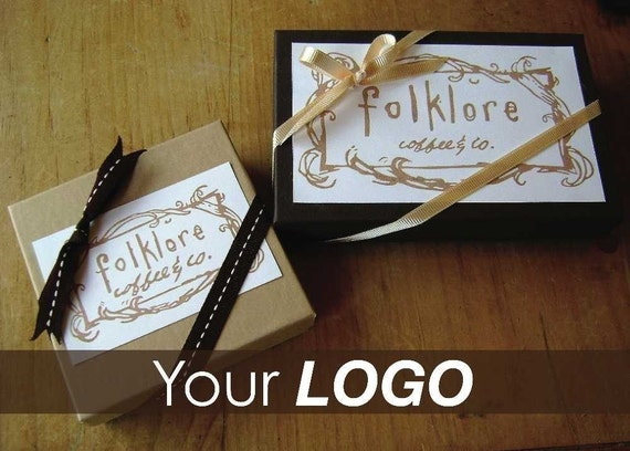 CUSTOM Hand-Carved Rubber Stamp of your LOGO (medium)