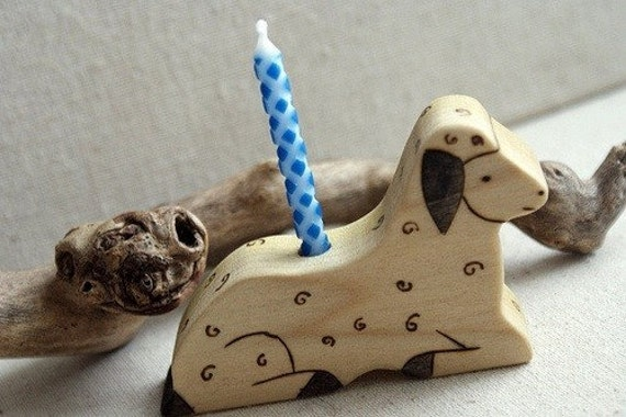 March Lamb Birthday Candle Holder Made to Order