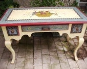 SALE- Hand Painted Writing Desk