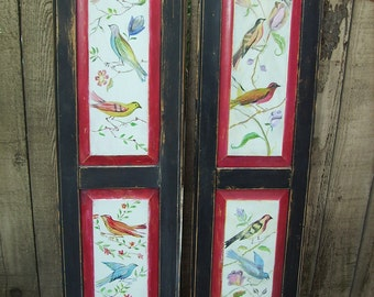 Hand Painted Bird Deco