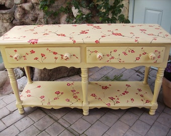 Hand Painted, Cherry Blossom Sofa Table