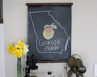 Chalkboard State Maps // Custom State Map Decor // 50 states // Georgia // Alabama // Alaska // Arizona // Arkansas