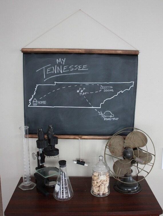 Chalkboard State Maps // Custom State Map Decor // 50 states // Tennessee // South Dakota // South Carolina // Rhode Island // Pennsylvania