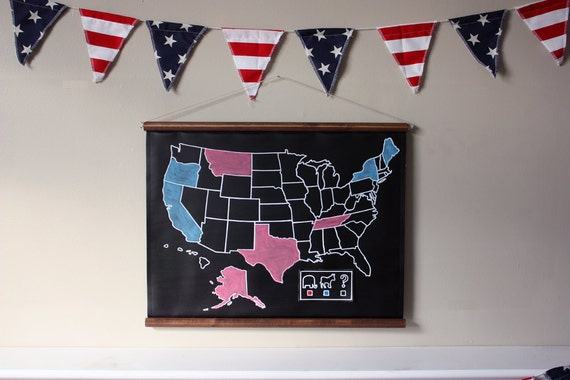 2012 Election Kit with United States Chalkboard Map