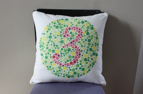 Ishihara Colorblind Test Pillow - Number 3