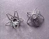 Large Flower Bead Caps (1 pair) (BB2070)