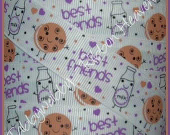 5 Yards 7/8 Milk and Cookies BFF Ribbon - TWRH